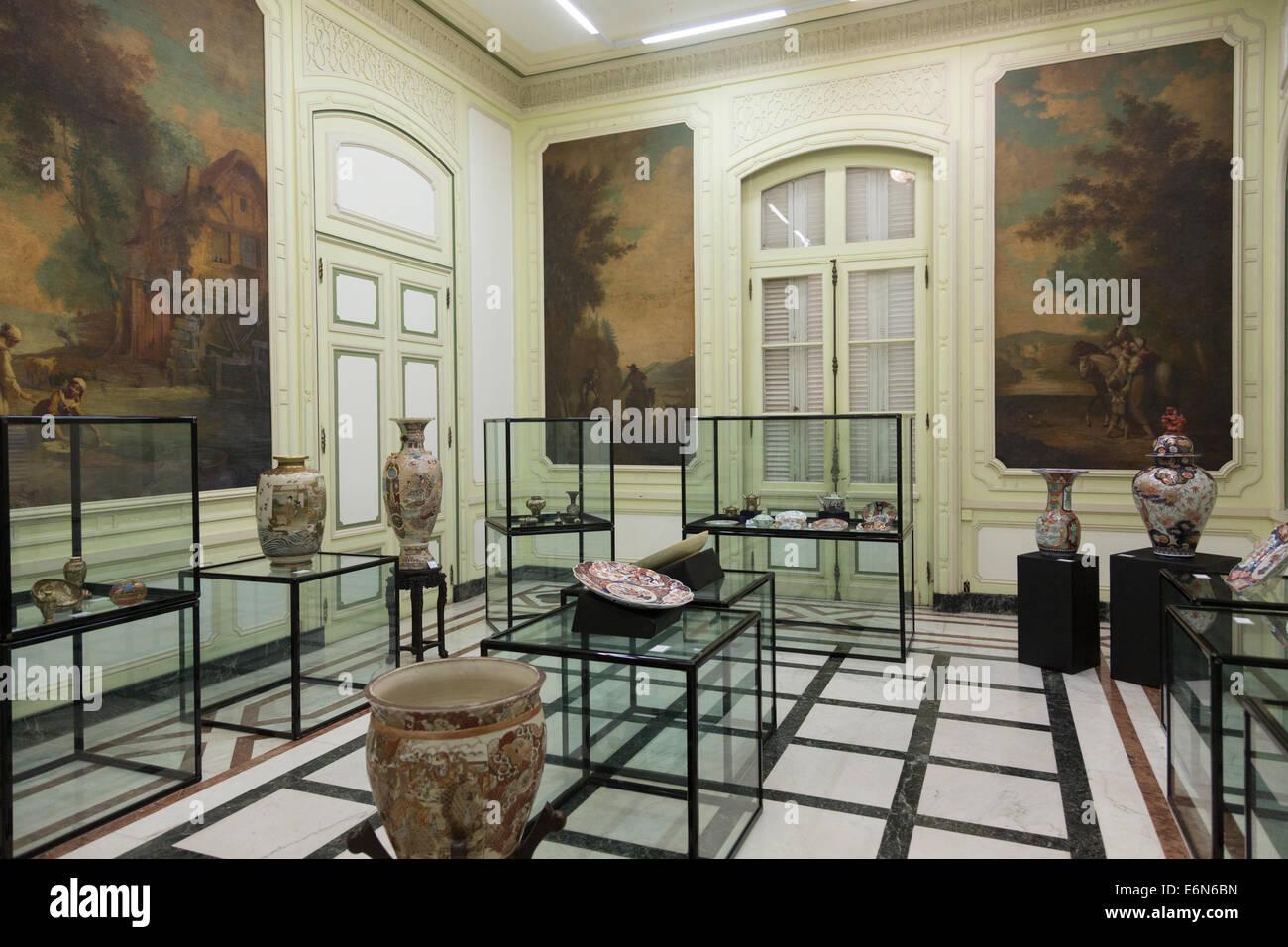 Camera giapponese, il Museo di Arti Decorative, Havana, Cuba Immagini Stock