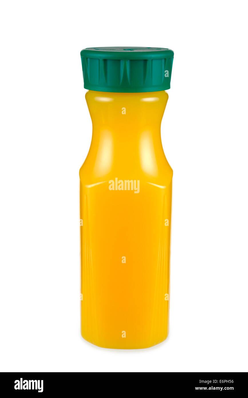 Succo di arancia bottiglia Immagini Stock