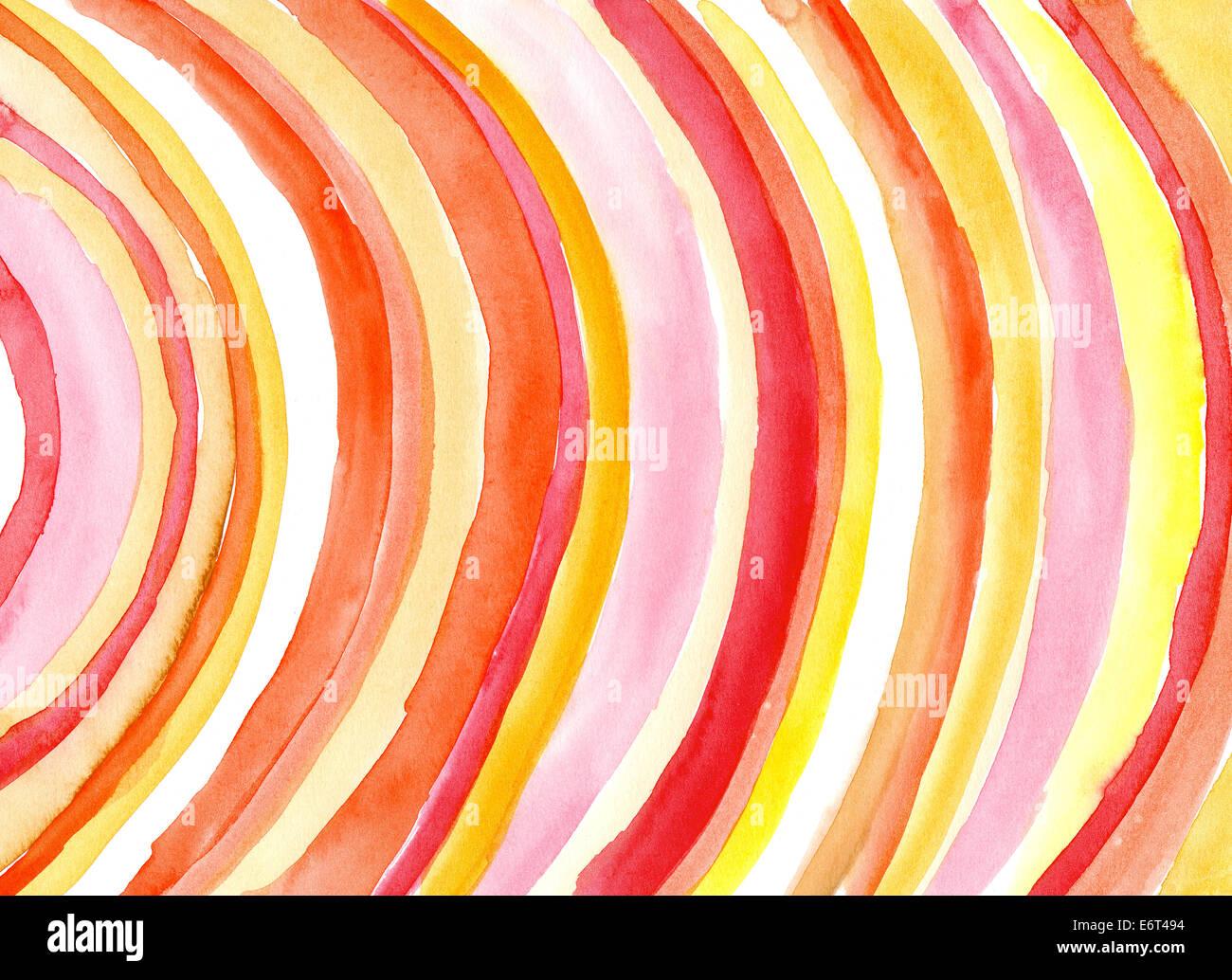 Curve ad acquerello Immagini Stock