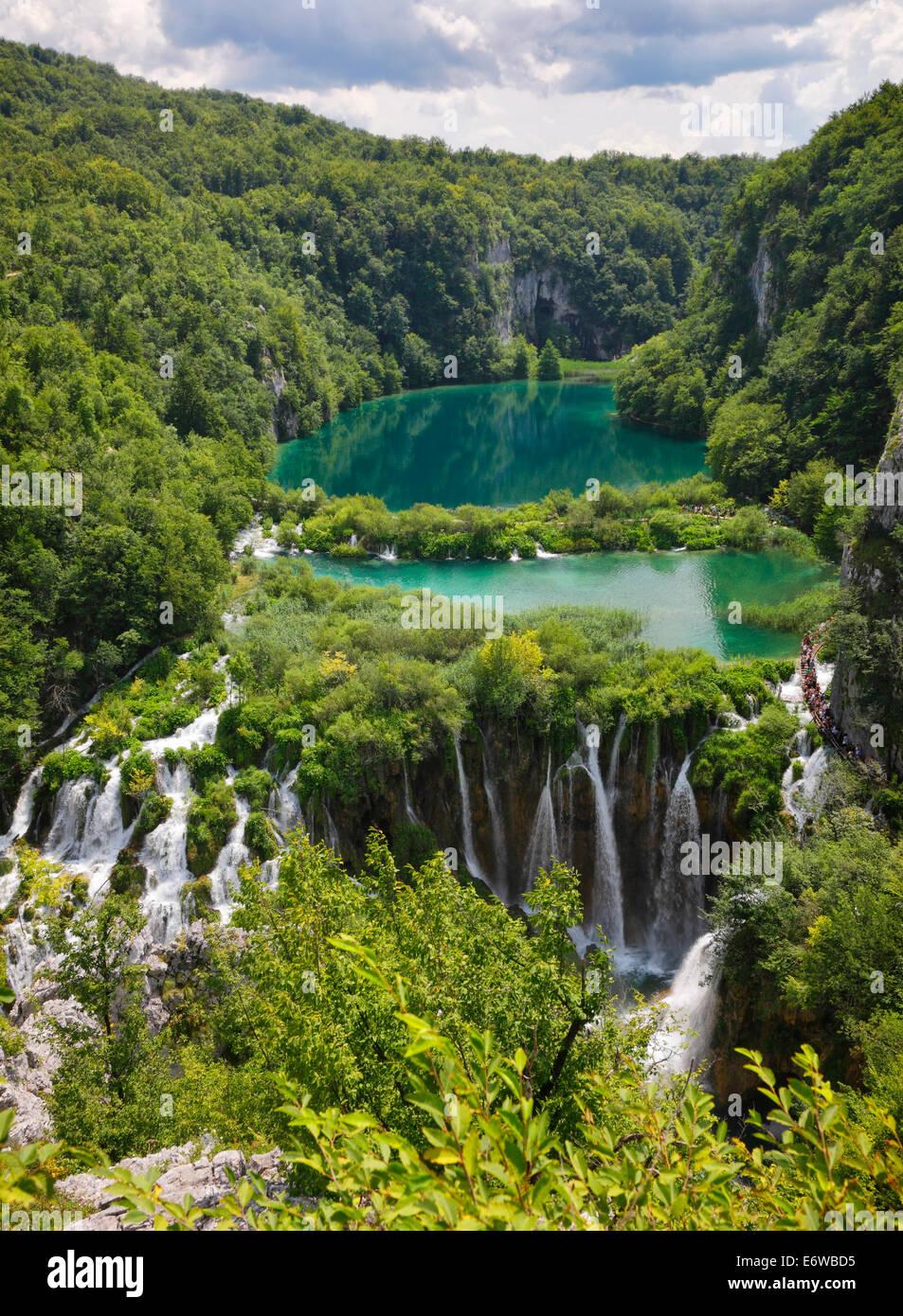 Il parco nazionale dei laghi di Plitvice, Croazia Immagini Stock