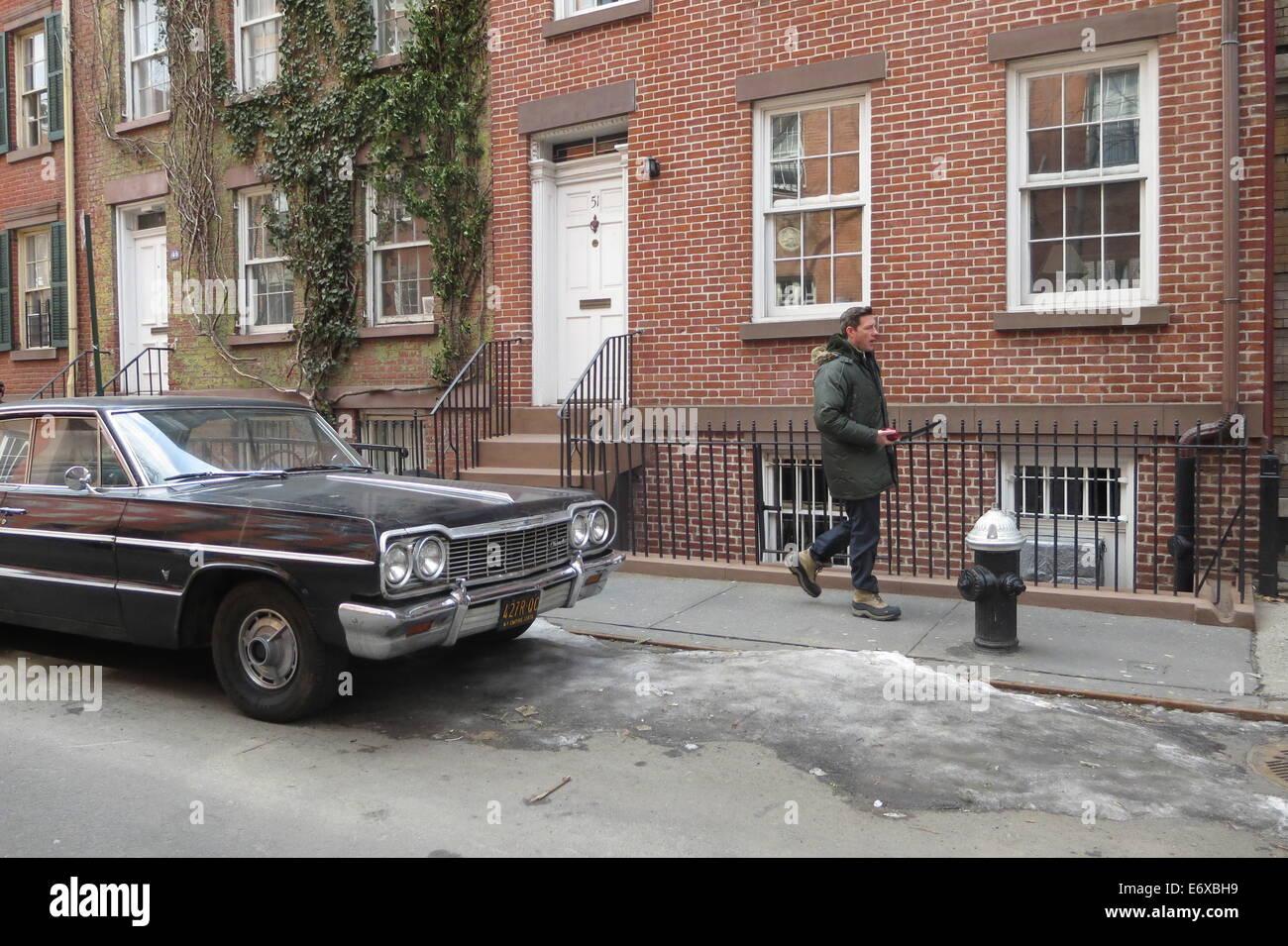 Ustioni del Edward sul set di morale pubblica dotata di: ustioni del Edward dove: Manhattan, New York, Stati Uniti Immagini Stock