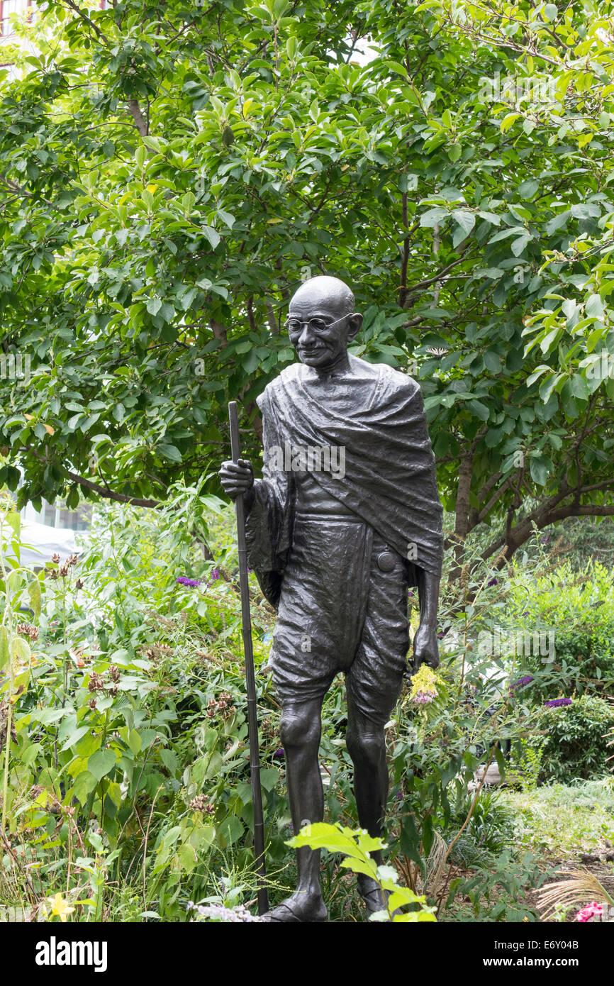 Il Mahatma Gandhi statua in Union Square a New York City Immagini Stock