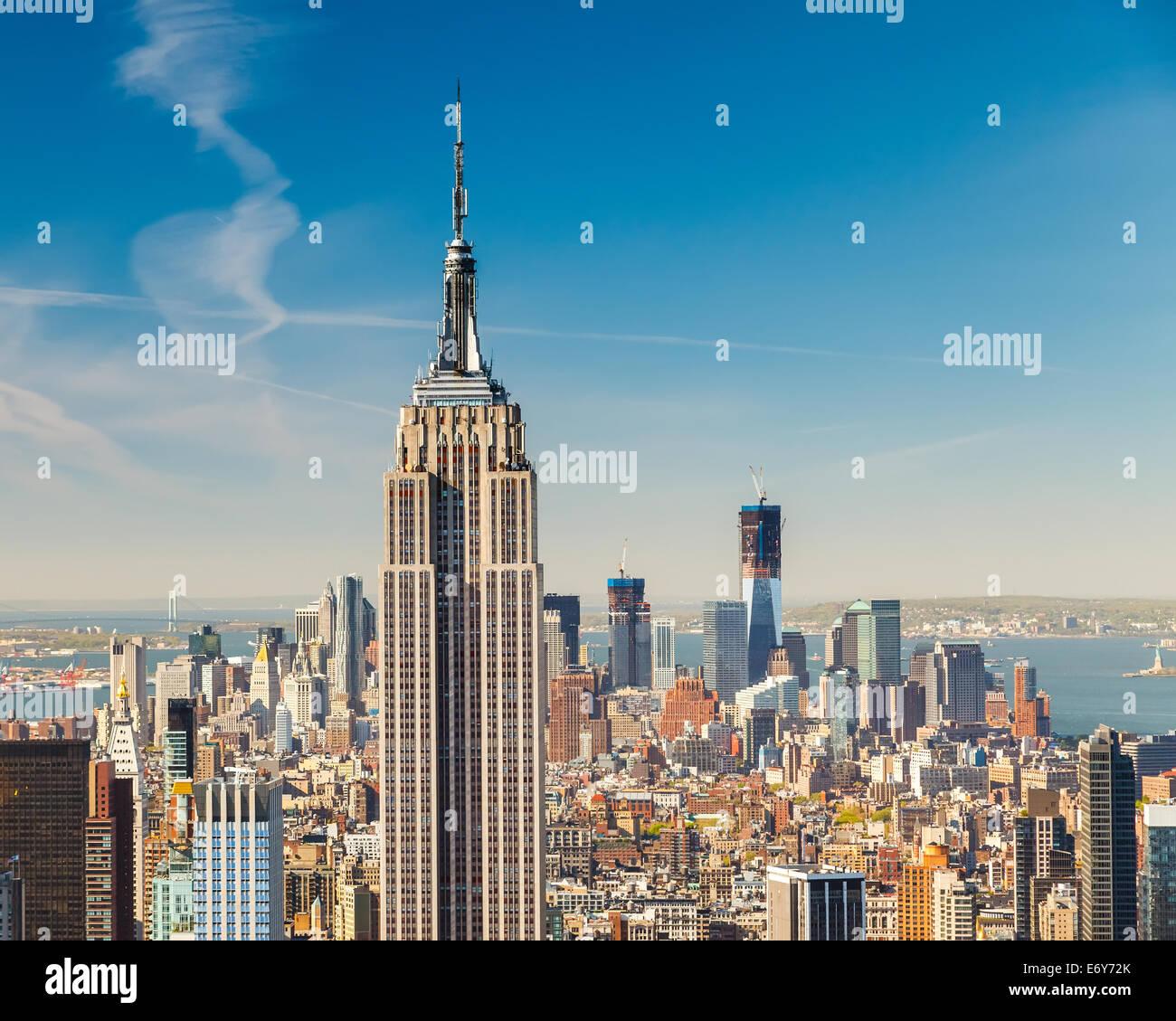 Manhattan vista aerea Immagini Stock