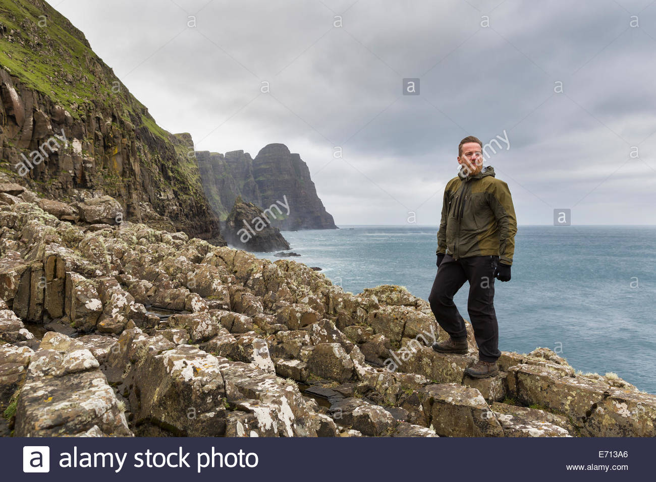 Lobranseidi, Isole Faerøer, Danimarca Immagini Stock