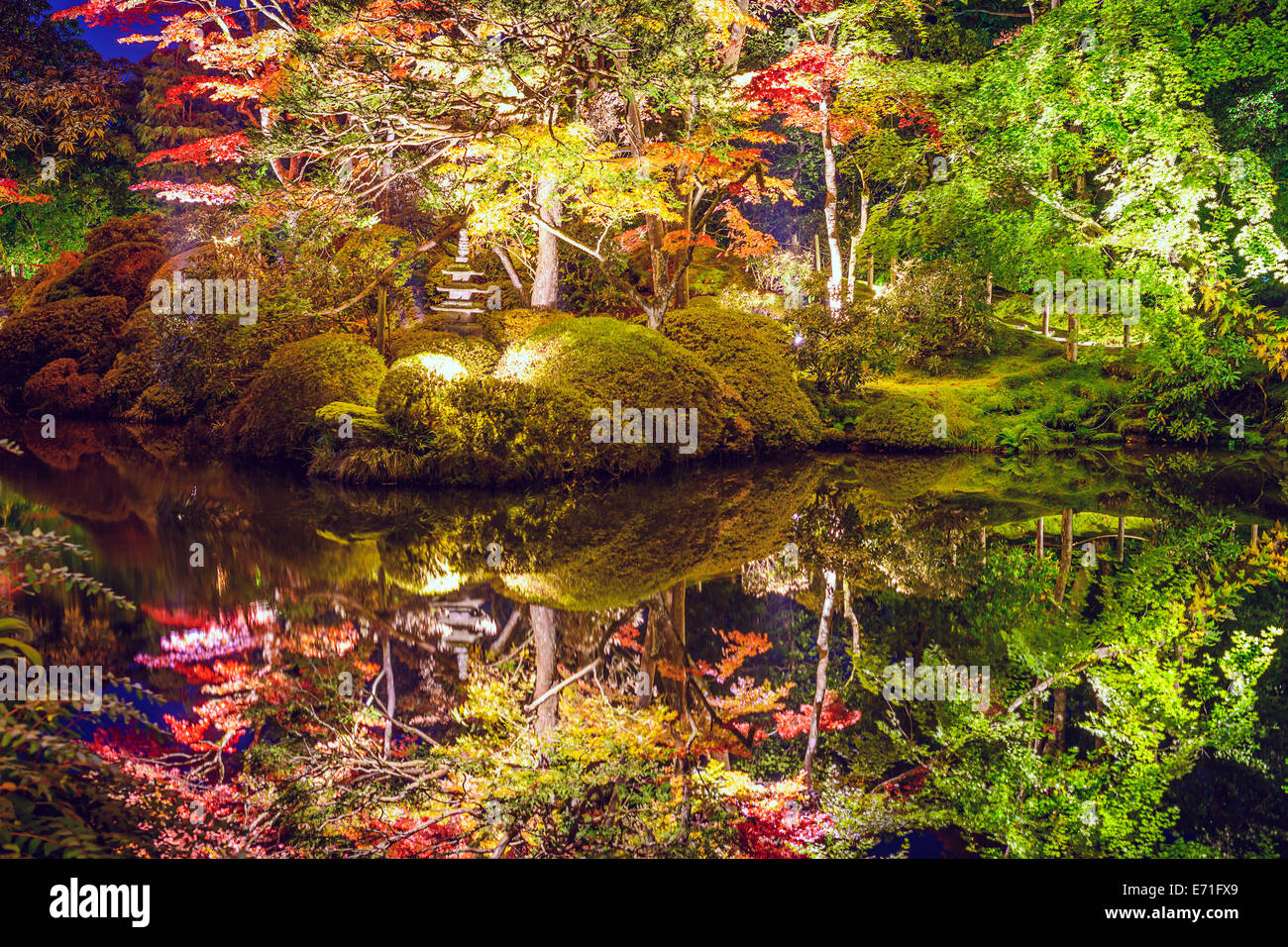 Nikko, Giappone a Shoyo-en giardino in autunno. Immagini Stock