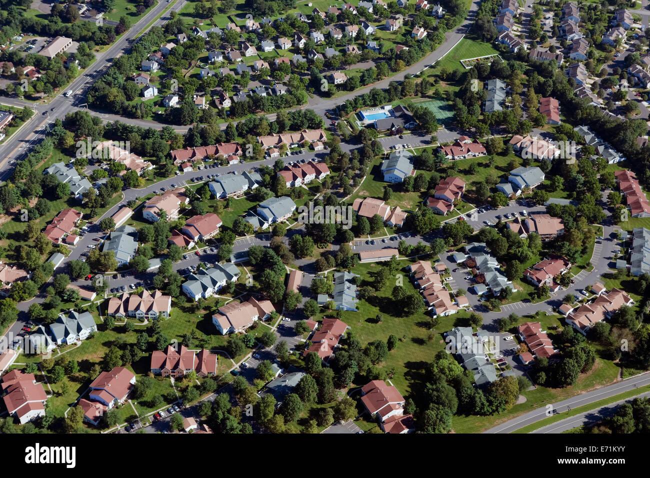 Comunità residenziale, Monroe Township, NJ Immagini Stock