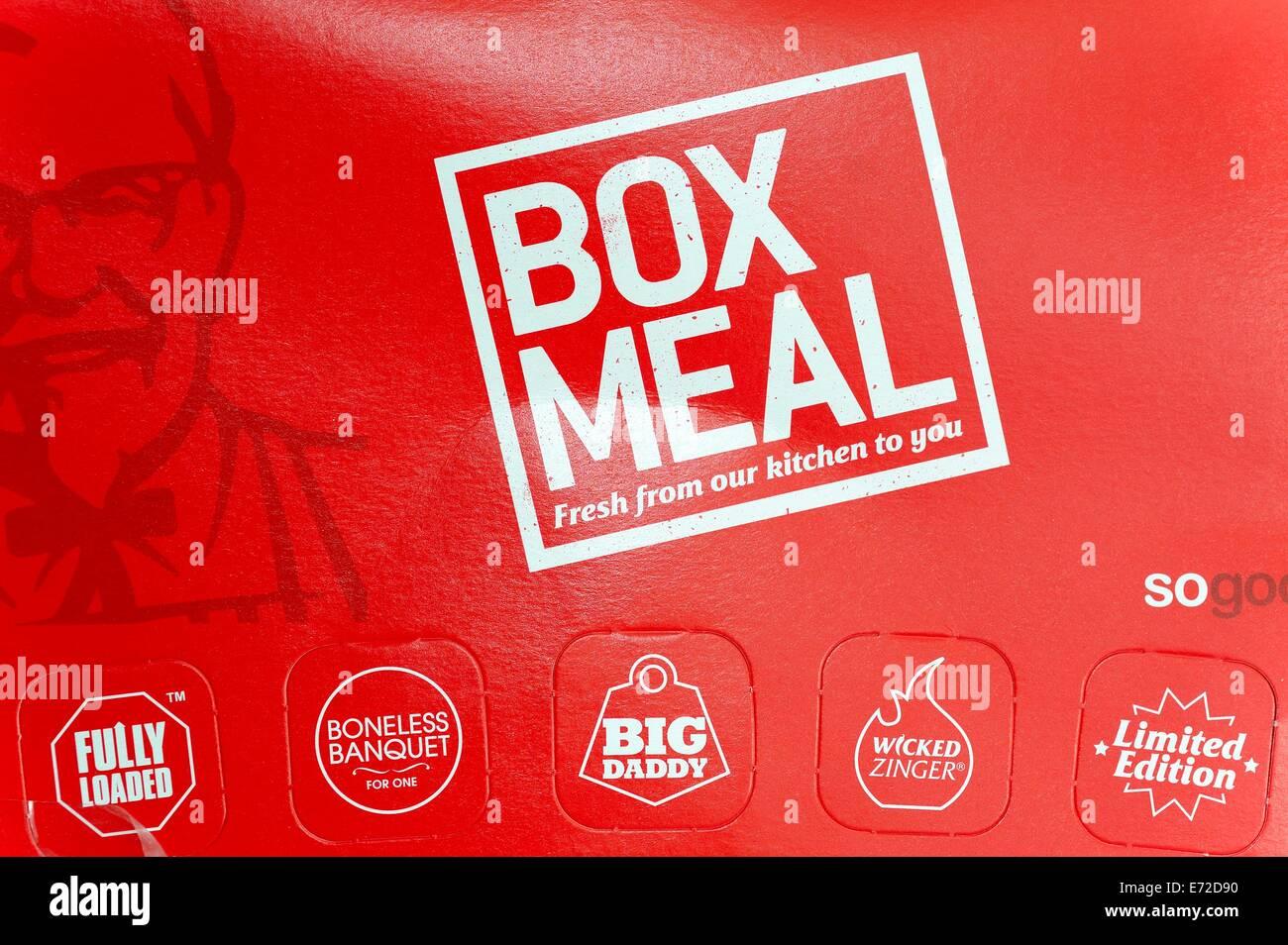 Pasto di casella KFC Immagini Stock