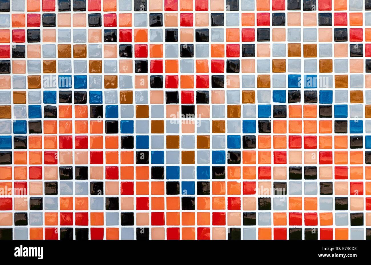 Vetro ceramica colorate piastrelle a mosaico pattern di composizione di sfondo foto immagine - Composizione piastrelle bagno ...
