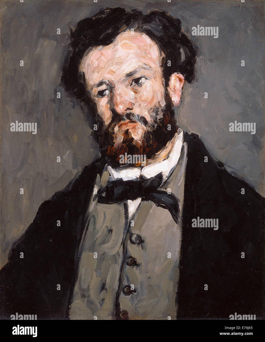 Ritratto di Anthony Valabrègue; Paul Cézanne, francese, 1839 - 1906; 1869 - 1871; Olio su tela; senza Immagini Stock