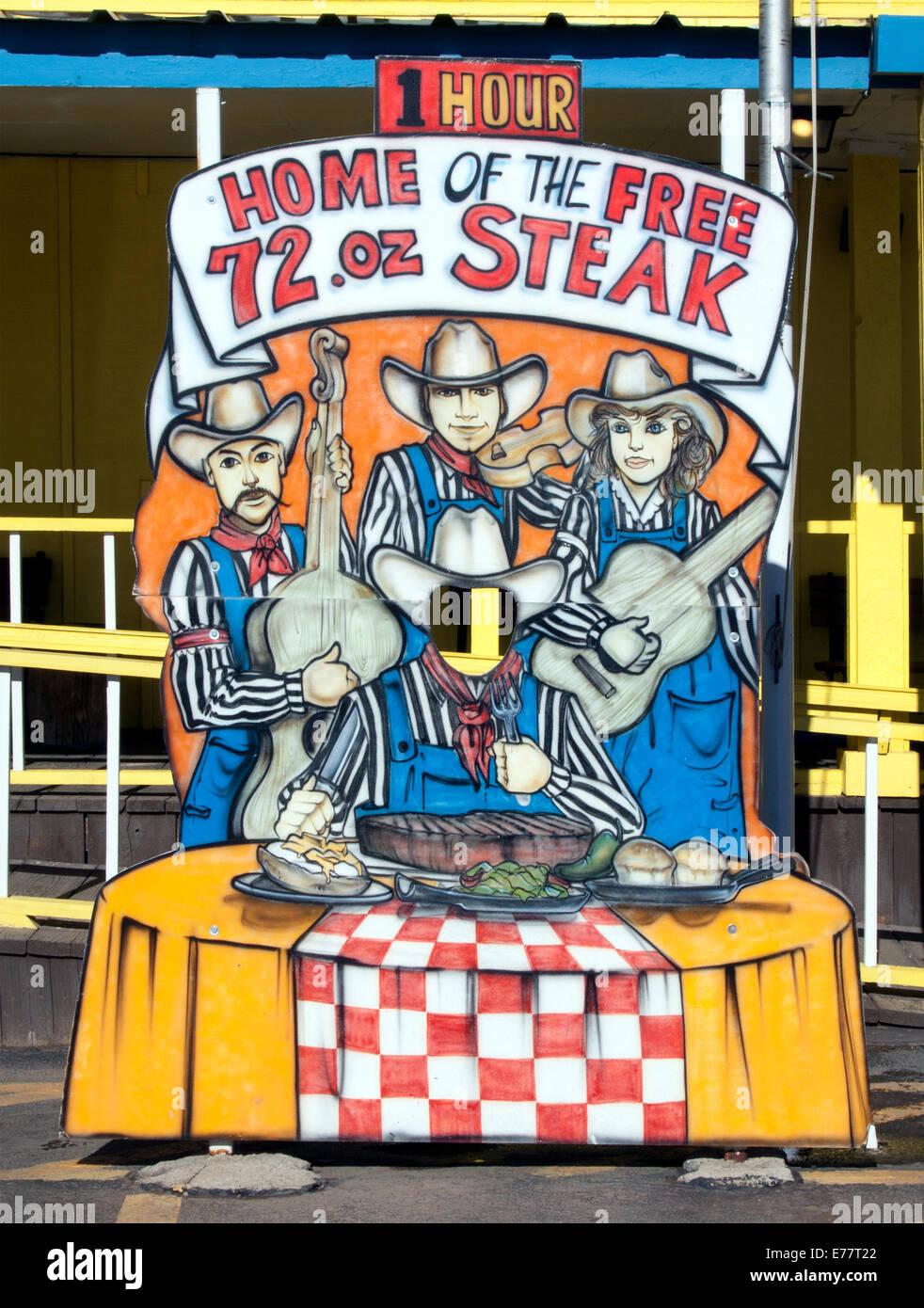 La Big Texan Steak Ranch ristorante in Amarillo Foto Stock