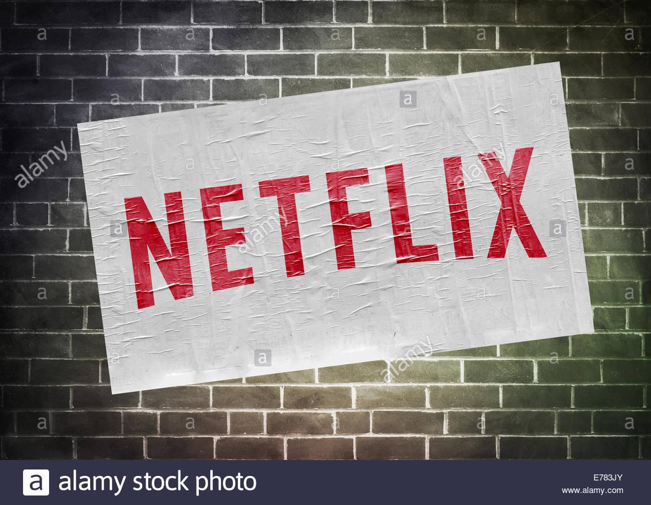 Icona di Netflix logo - Concetto di poster Immagini Stock
