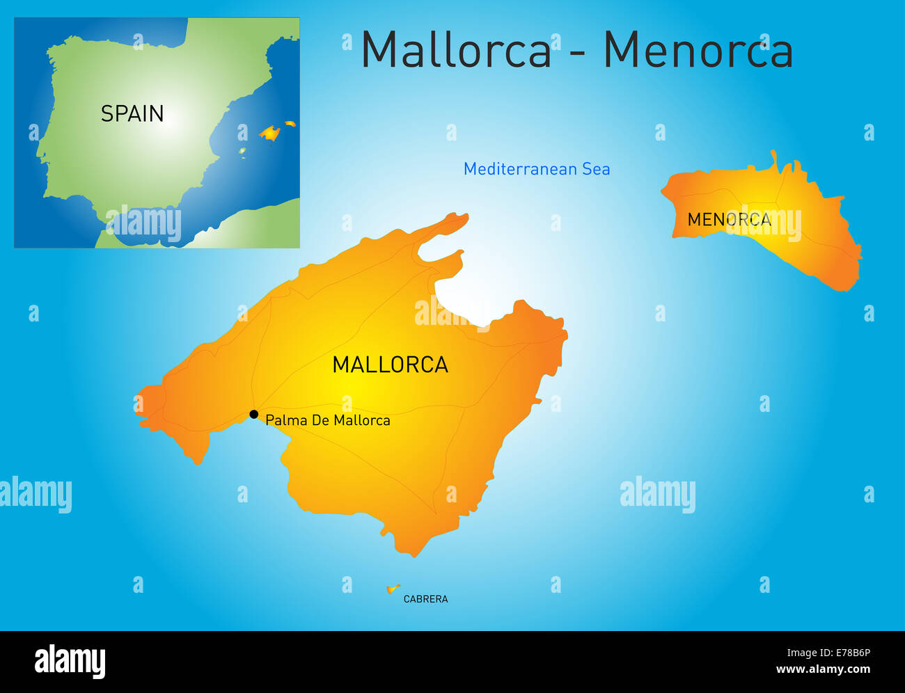 Cartina Minorca Spagna