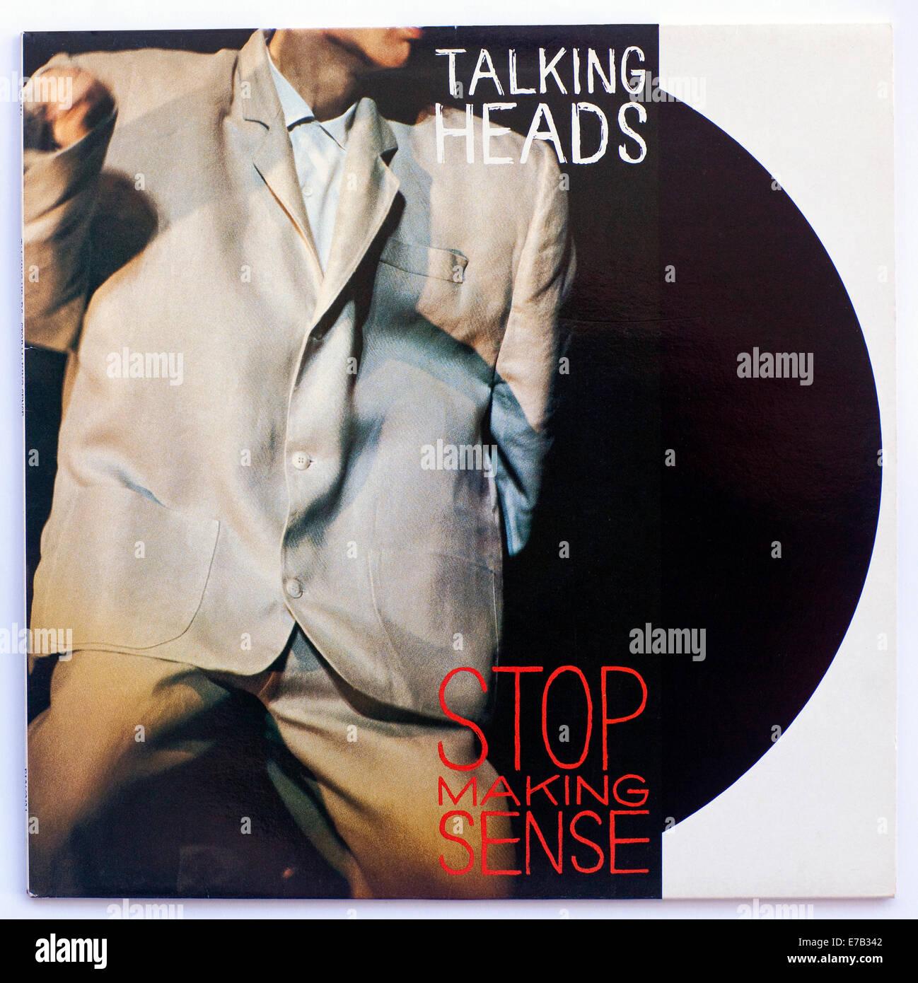 Teste parlanti - smettere di fare senso 1984 colonna sonora del film copertina album Immagini Stock