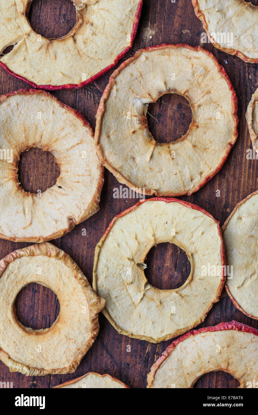 Round secche Mele Immagini Stock