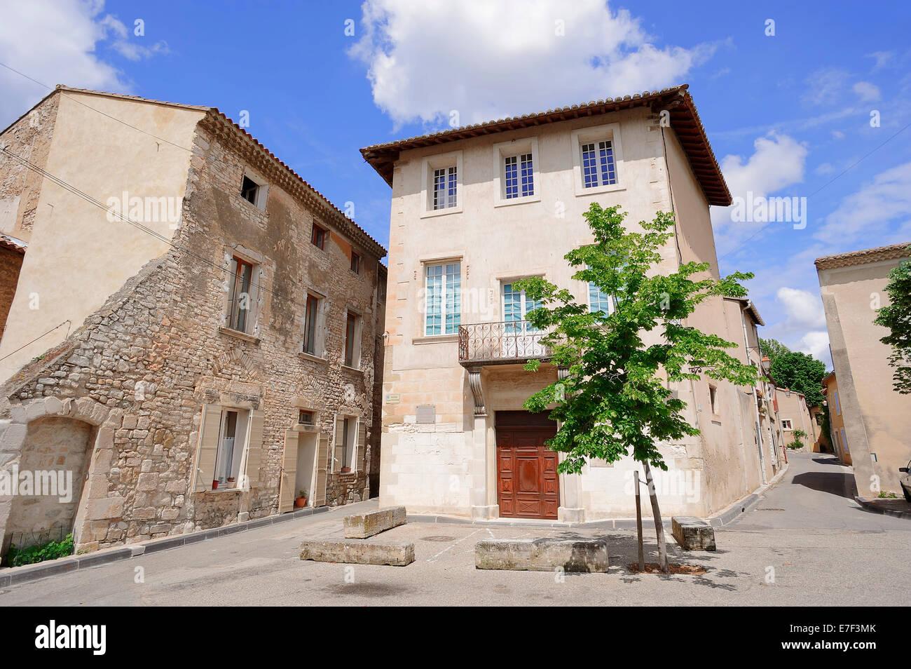 Maison Flechier, Comtadine Museo delle tradizioni, Pernes-les-Fontaines, Vaucluse, Provence-Alpes-Côte d'Azur, Immagini Stock