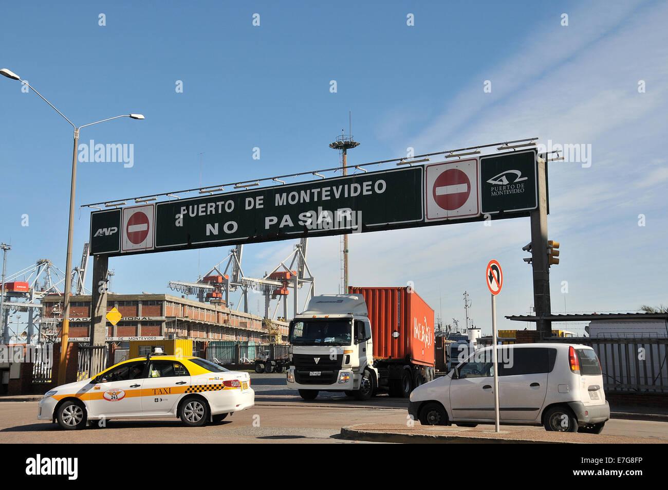 Puerto do Montevideo Uruguay Immagini Stock