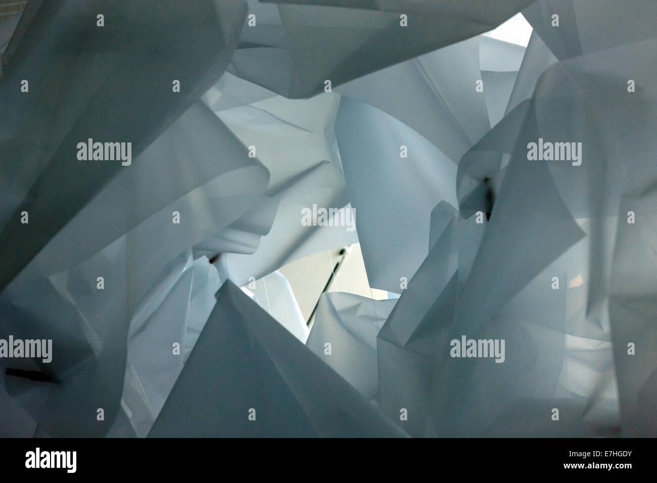 Close-up immagine di Spencer finch la illustrazione 'Cloud scultura' alla Turner contemporaneo, Margate. Immagini Stock