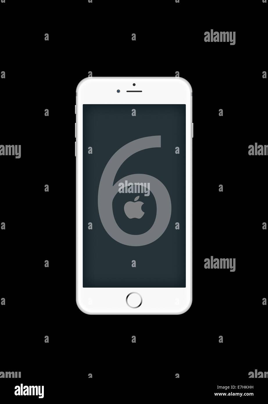 Generati digitalmente immagine del telefono cellulare, il nuovo iphone 6. Immagini Stock