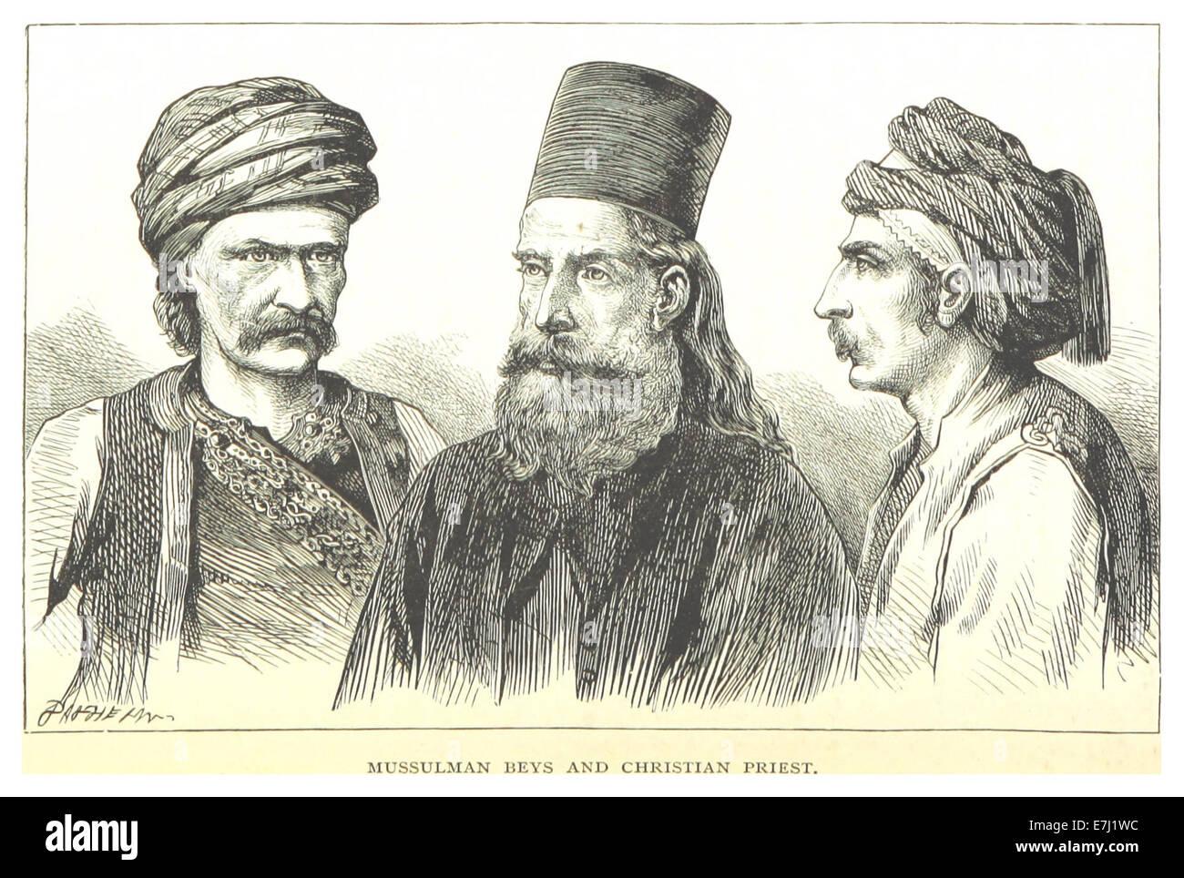 MACKENZIE(1877) p1.300 MUSSULMAN BEUYS E G. DOTTORI e sacerdote cristiano Immagini Stock