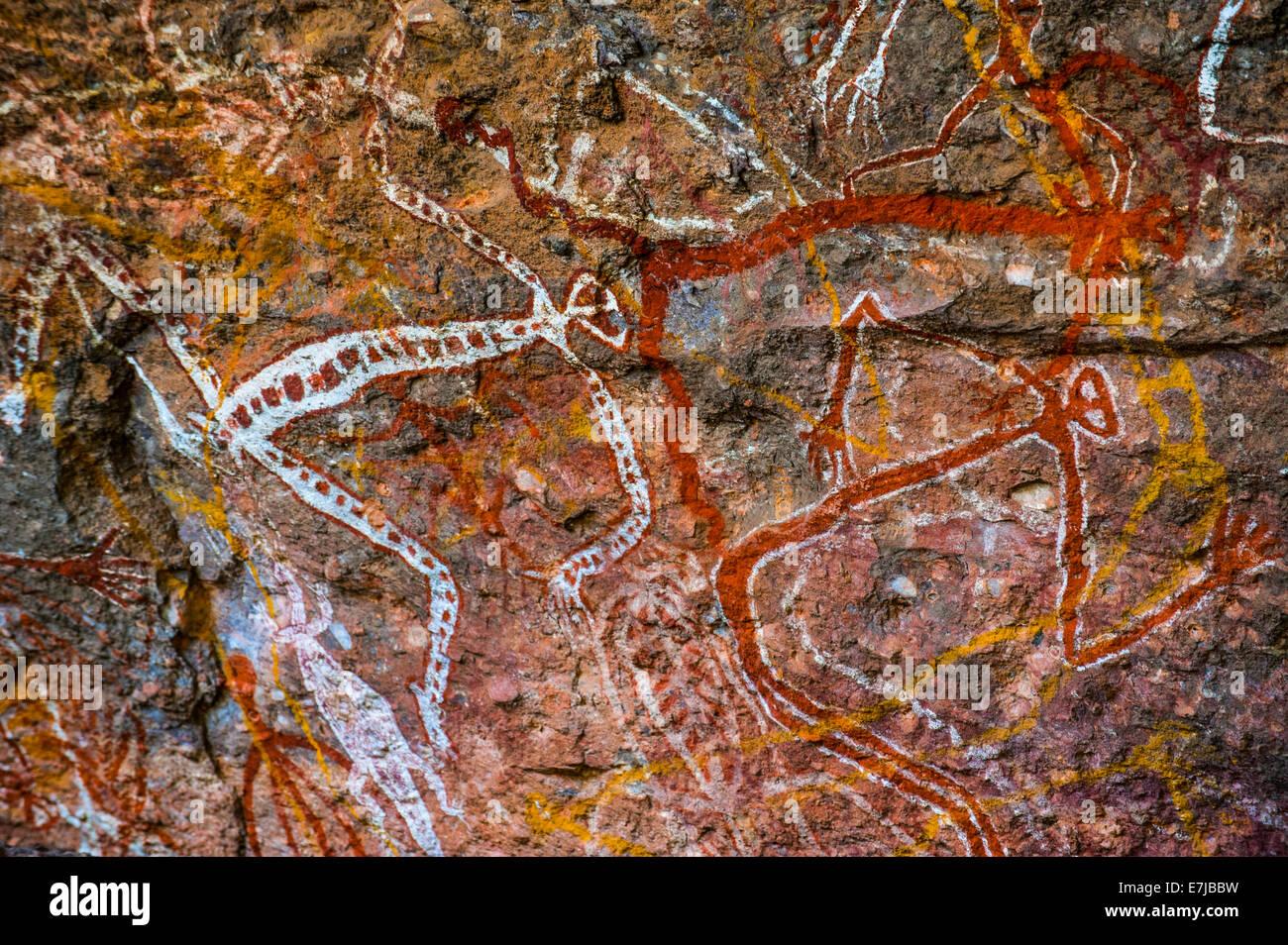 Presto la pittura murale, il Parco Nazionale Kakadu, Territorio del Nord, l'Australia Foto Stock
