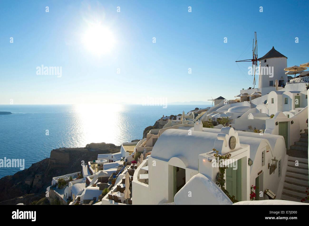 La Grecia, Europa, Cicladi, isola, isola, isole greche, esterno, Mare mediterraneo, giorno, nessuno, Santorini  Immagini Stock