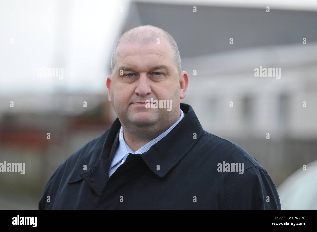 Welsh AM Carl Sargeant Ministro delle risorse naturali. Immagini Stock