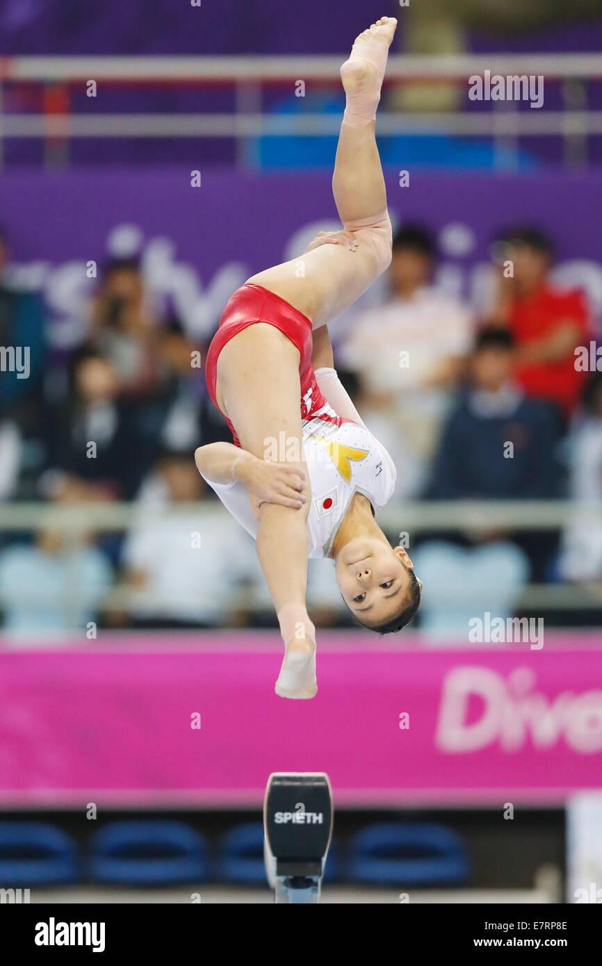 Incheon, Corea del Sud. Il 22 settembre, 2014. Yuriko Yamamoto (JPN) ginnastica artistica : Donne Squadra saldo Foto Stock