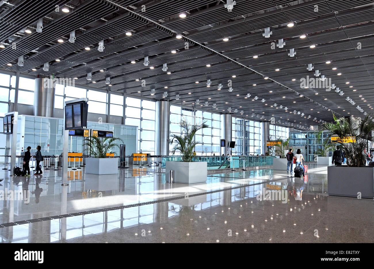 Aeroporto Gru : Sala partenze del terminal dell aeroporto internazionale