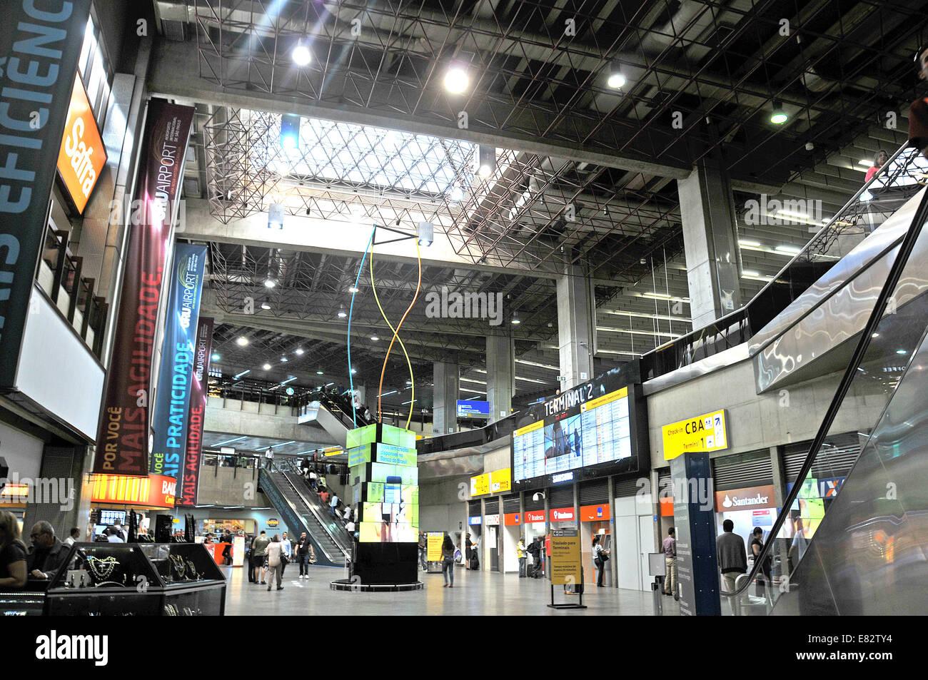 Dall'Aeroporto Internazionale Guarulhos di Sao Paulo in Brasile Immagini Stock