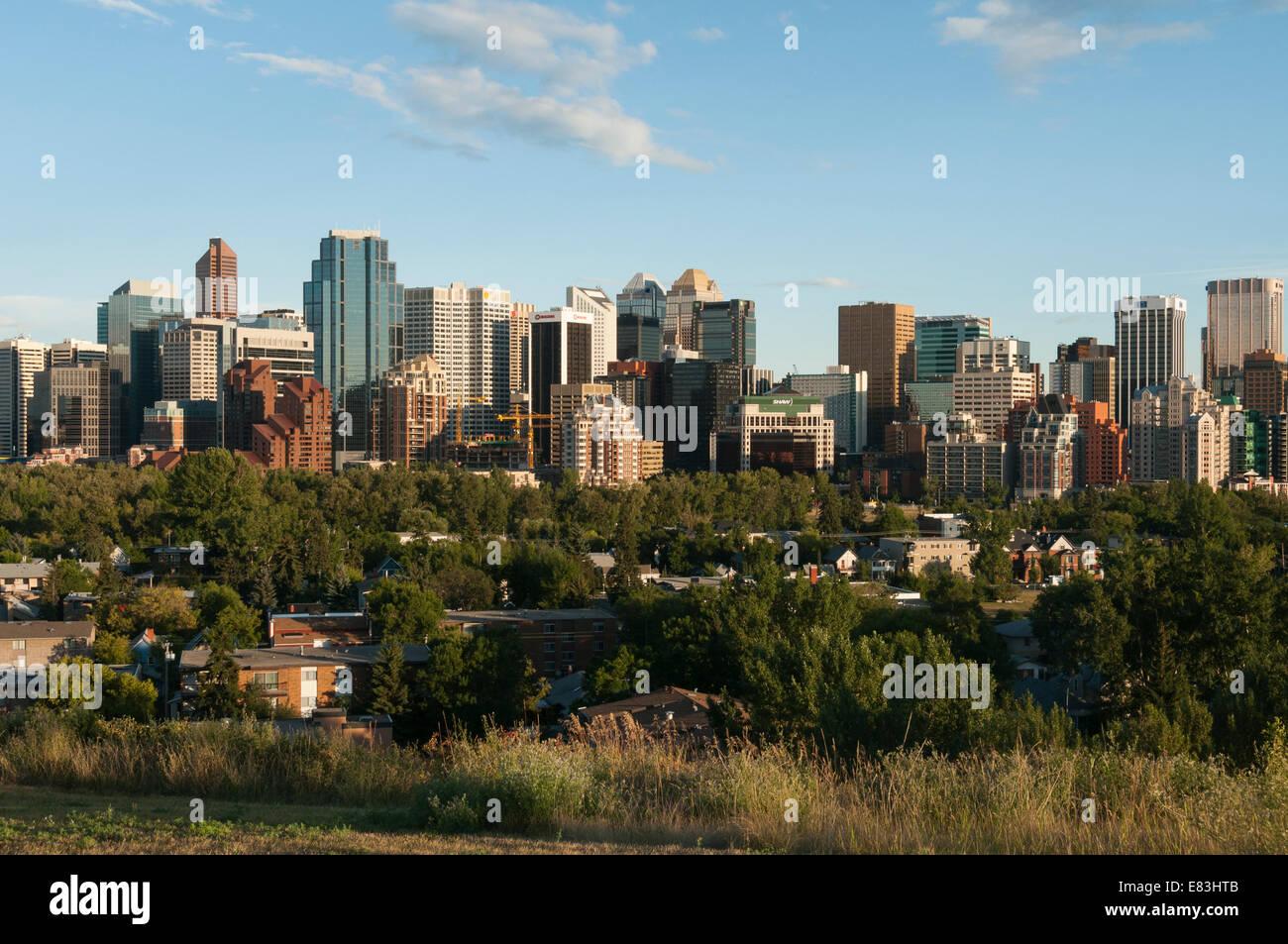 Elk203-6027 Canada, Alberta, Calgary, skyline Immagini Stock