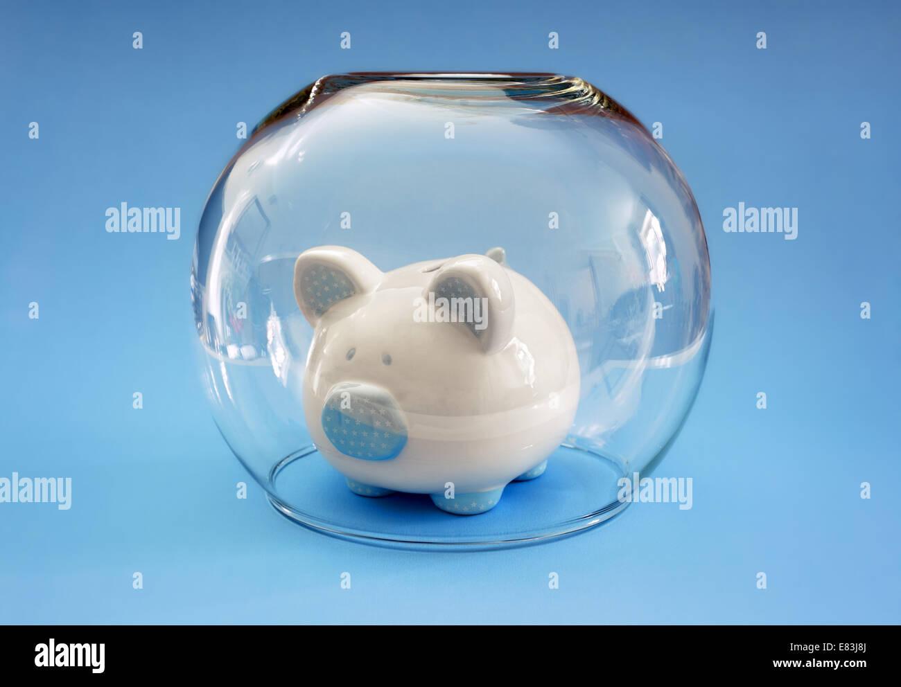 Proteggere il tuo denaro Immagini Stock
