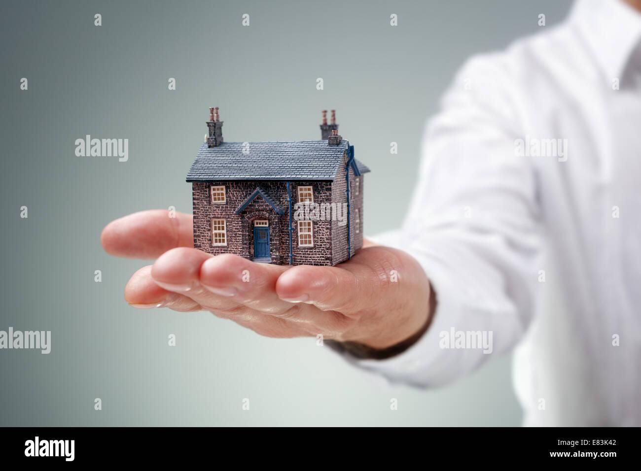 Annunci immobiliari Immagini Stock