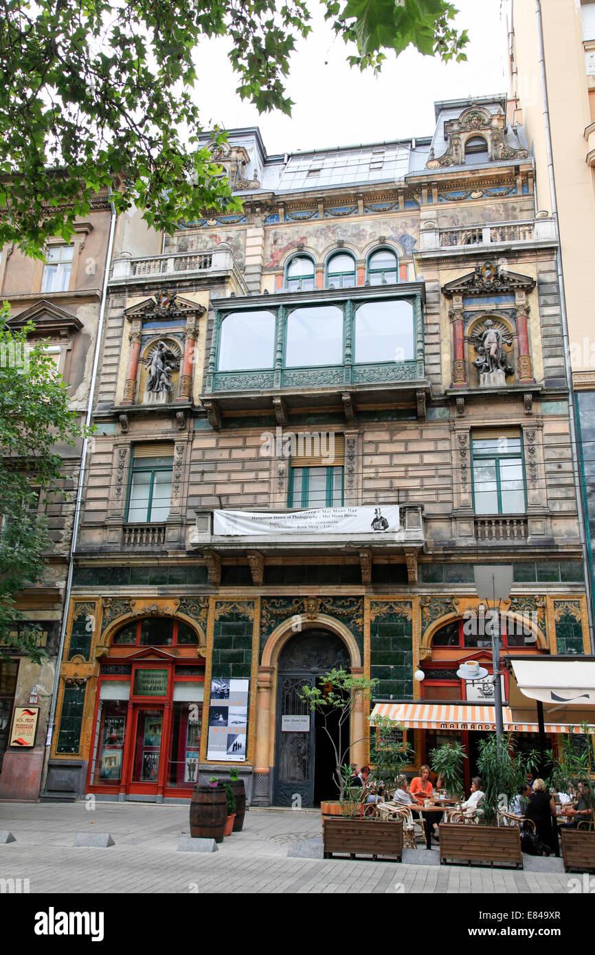 Budapest, Ungheria Mai Mano cafe Immagini Stock