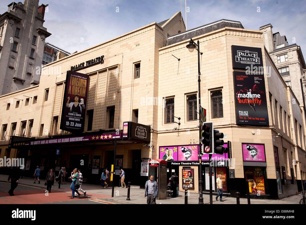 25/6/12 GV del Palace Theatre , Oxford Road , Manchester . Immagini Stock