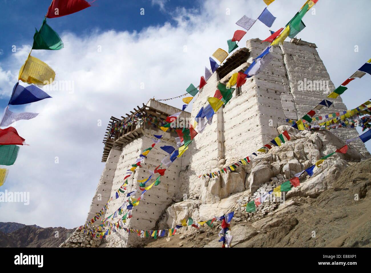 Namgyal Tsemo Gompa, Leh, Ladakh, India, Asia Immagini Stock