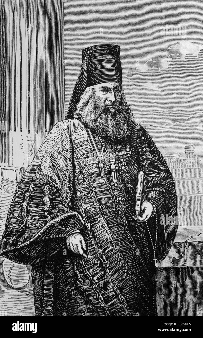 L'Europa. Chiesa ortodossa orientale. Greco-ortodossi chierico, 1870. Incisione. Immagini Stock