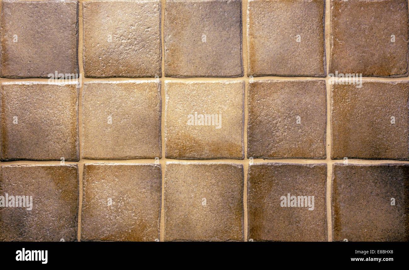 Brown grunge piastrelle cucina per lo sfondo o texture foto