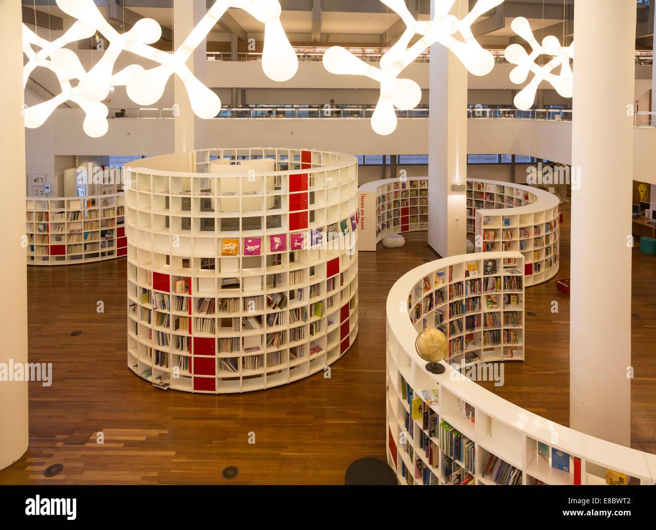Sezione per bambini, Centrale Bibliotheek, Central Public Library, Amsterdam, Olanda, Paesi Bassi Immagini Stock
