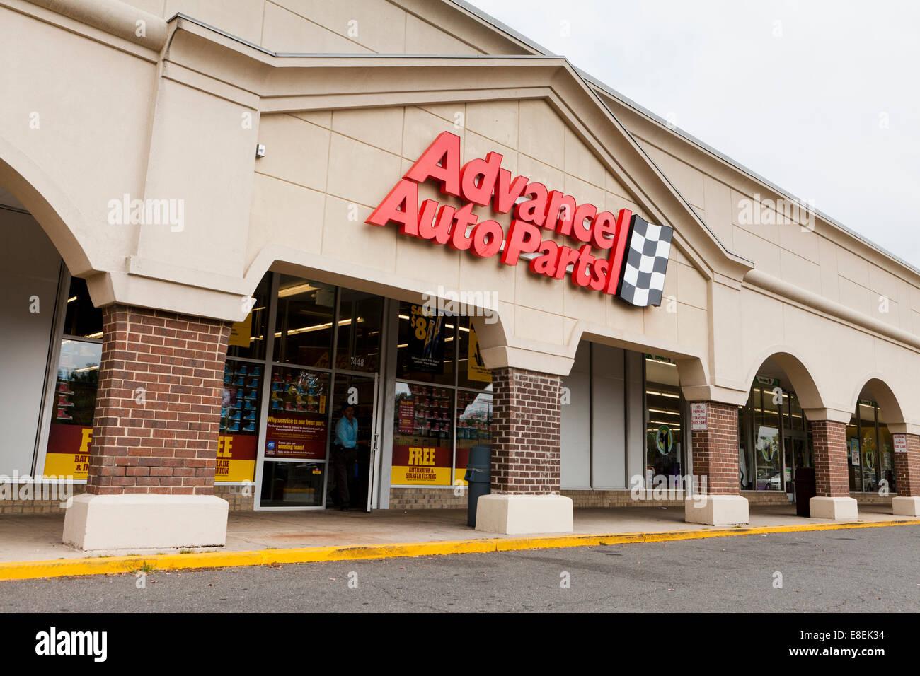 Advanced Auto parti storefront - Virginia STATI UNITI D'AMERICA Immagini Stock