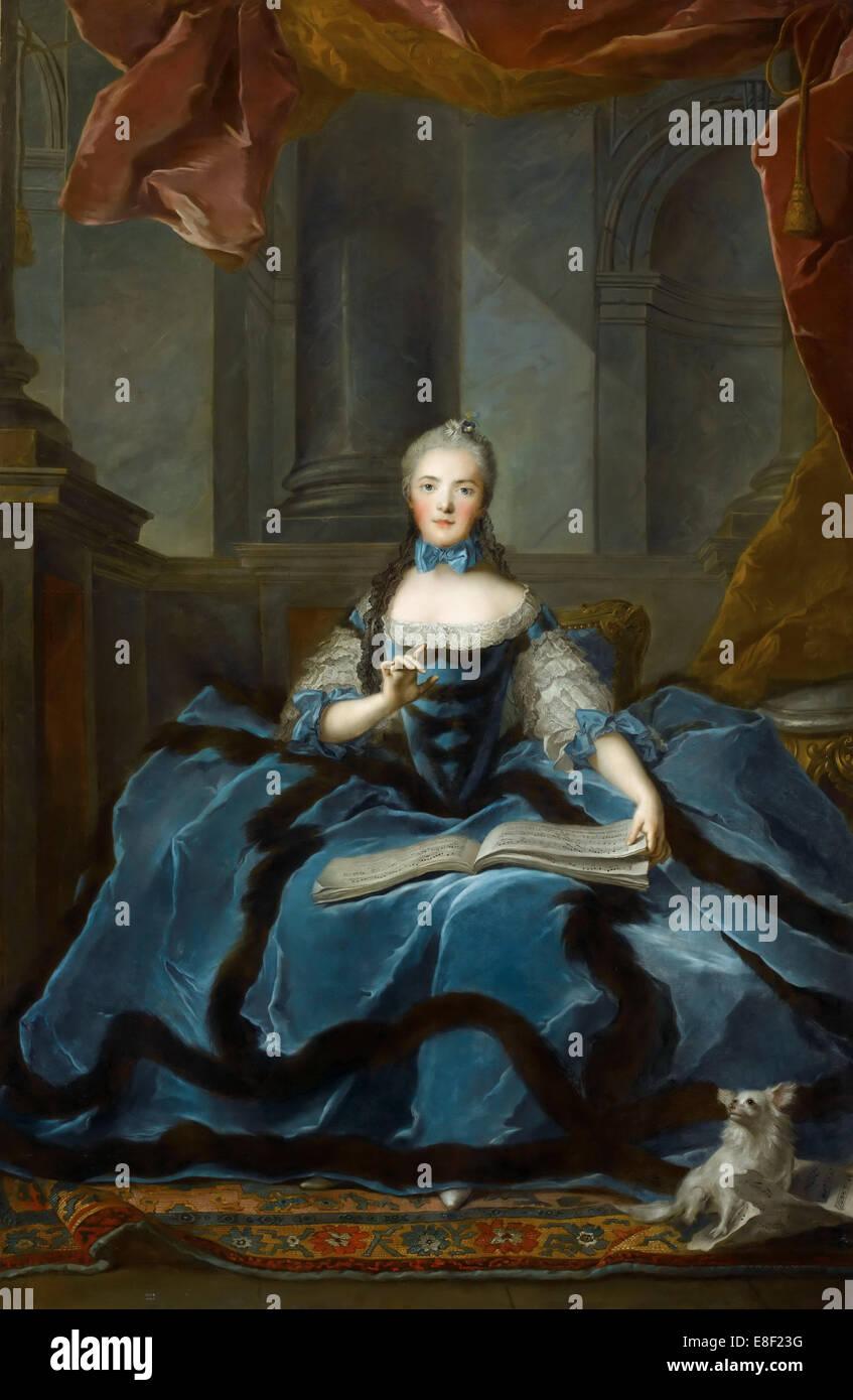 La principessa Marie Adélaïde della Francia (1732-1800). Artista: Nattier, Jean-Marc (1685-1766) Immagini Stock