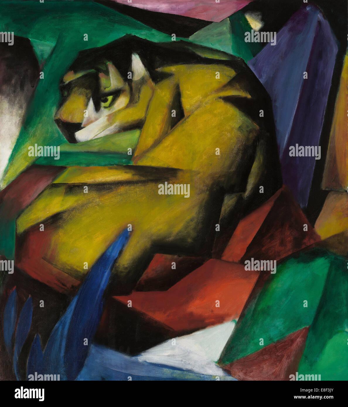 La tigre. Artista: Marc, Franz (1880-1916) Immagini Stock