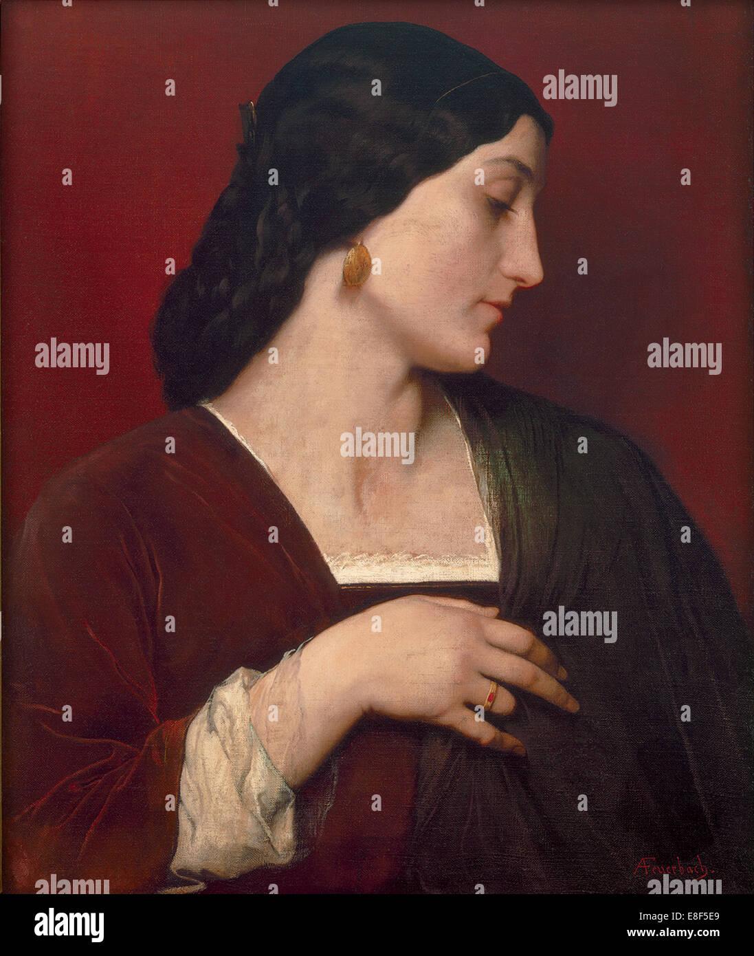Nanna. Artista: Feuerbach, Anselmo (1829-1880) Immagini Stock