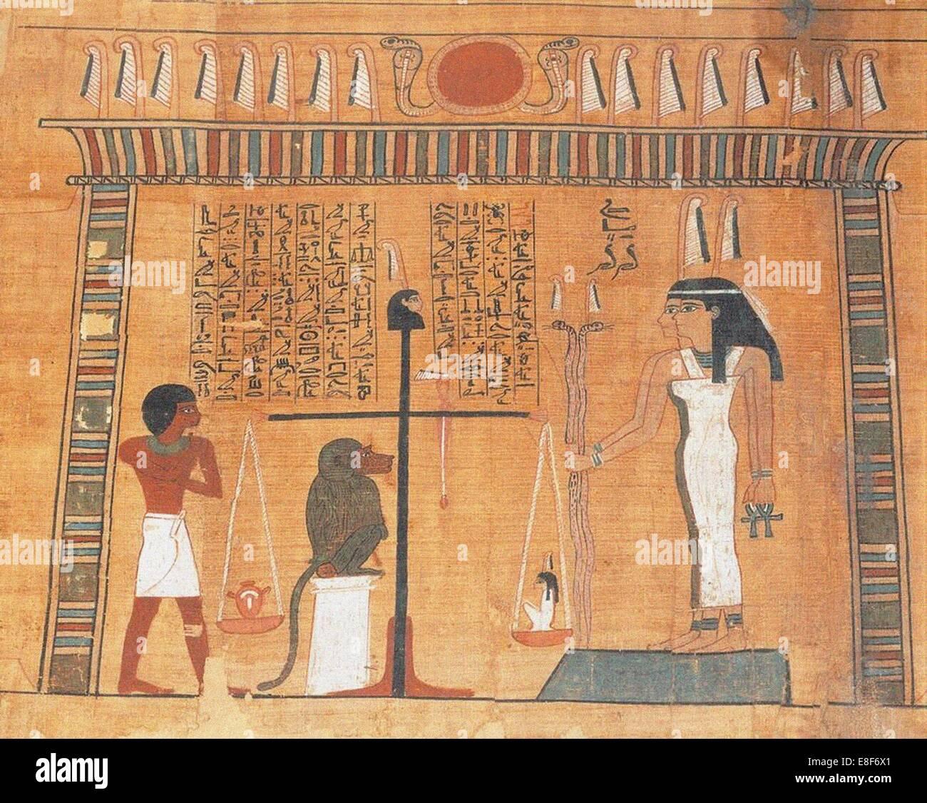 Il Libro dei Morti. Artista: Antico Egitto Immagini Stock
