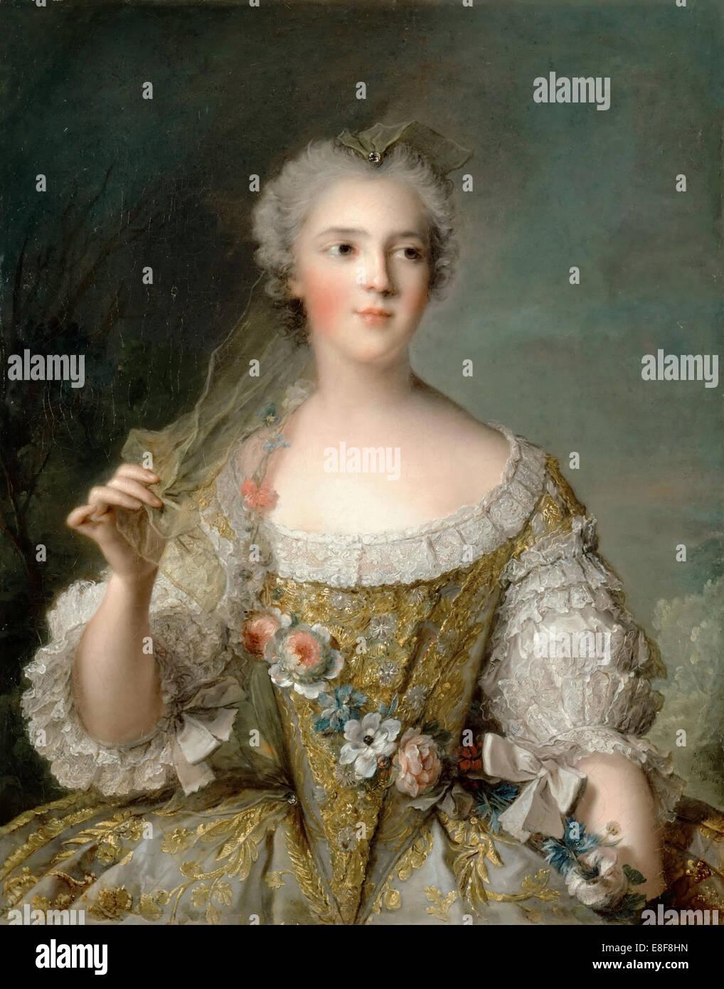 La principessa Sophie di Francia (1734-1782). Artista: Nattier, Jean-Marc (1685-1766) Immagini Stock