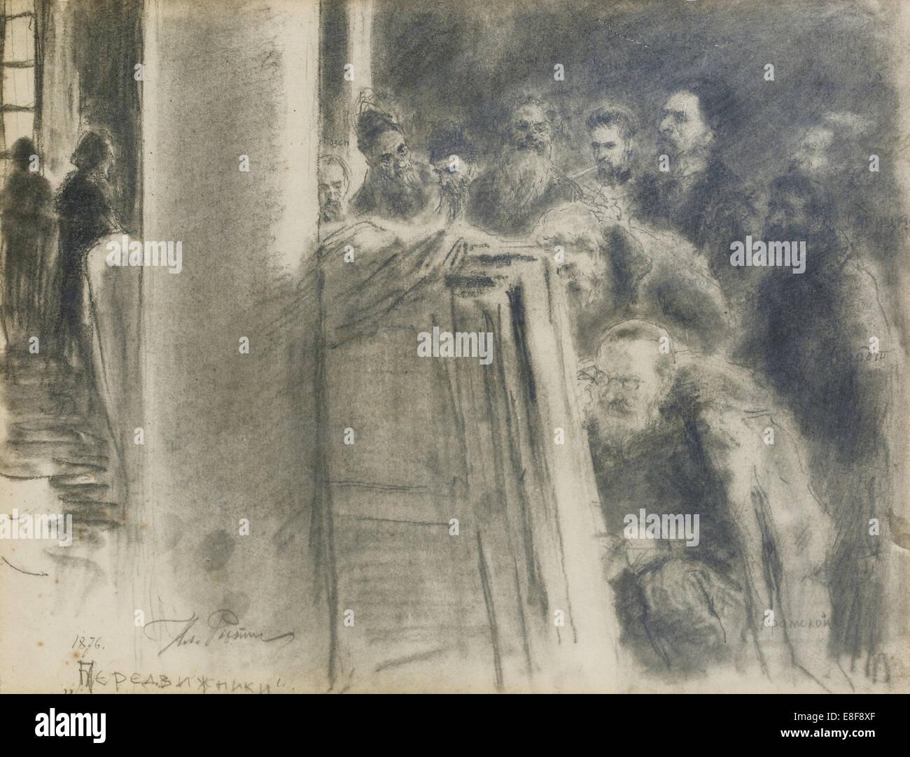 Il Peredvizhniki-Group. Artista: Repin, Ilya Yefimovich (1844-1930) Immagini Stock