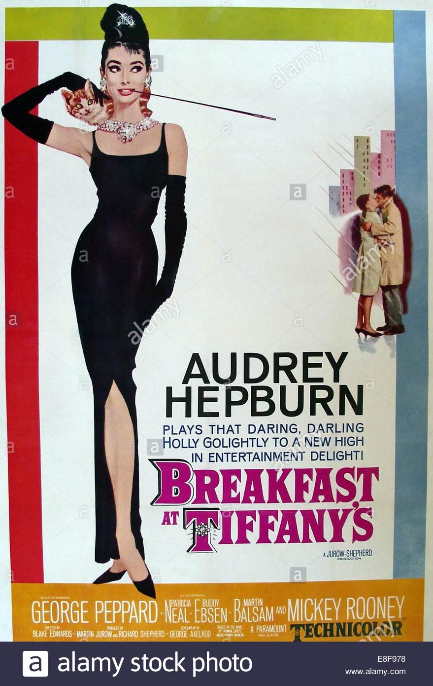 Colazione da Tiffany (film poster). Artista: Anonimo Immagini Stock