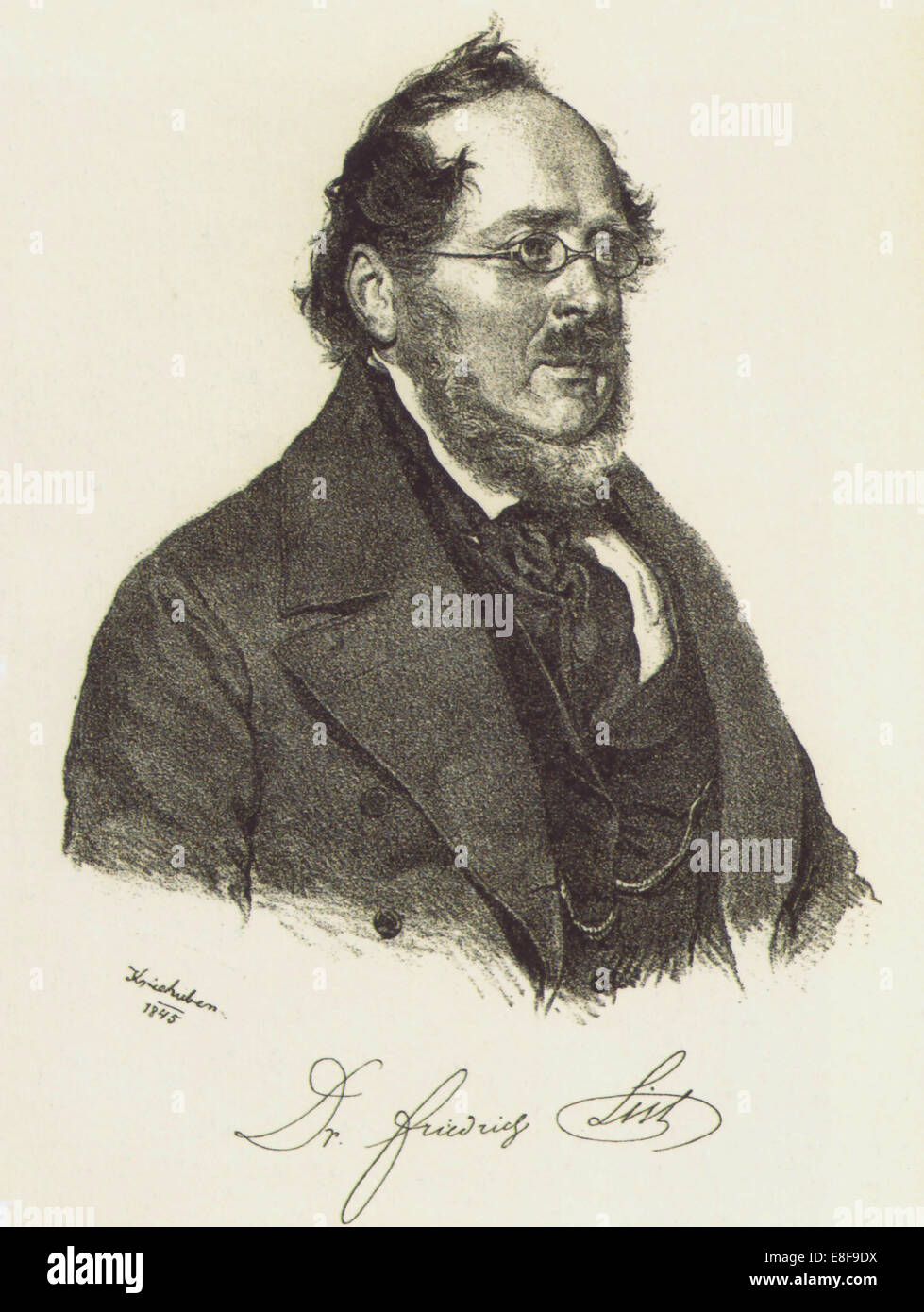 Elenco Friedrich (1789-1846). Artista: Kriehuber, Josef (1800-1876) Immagini Stock