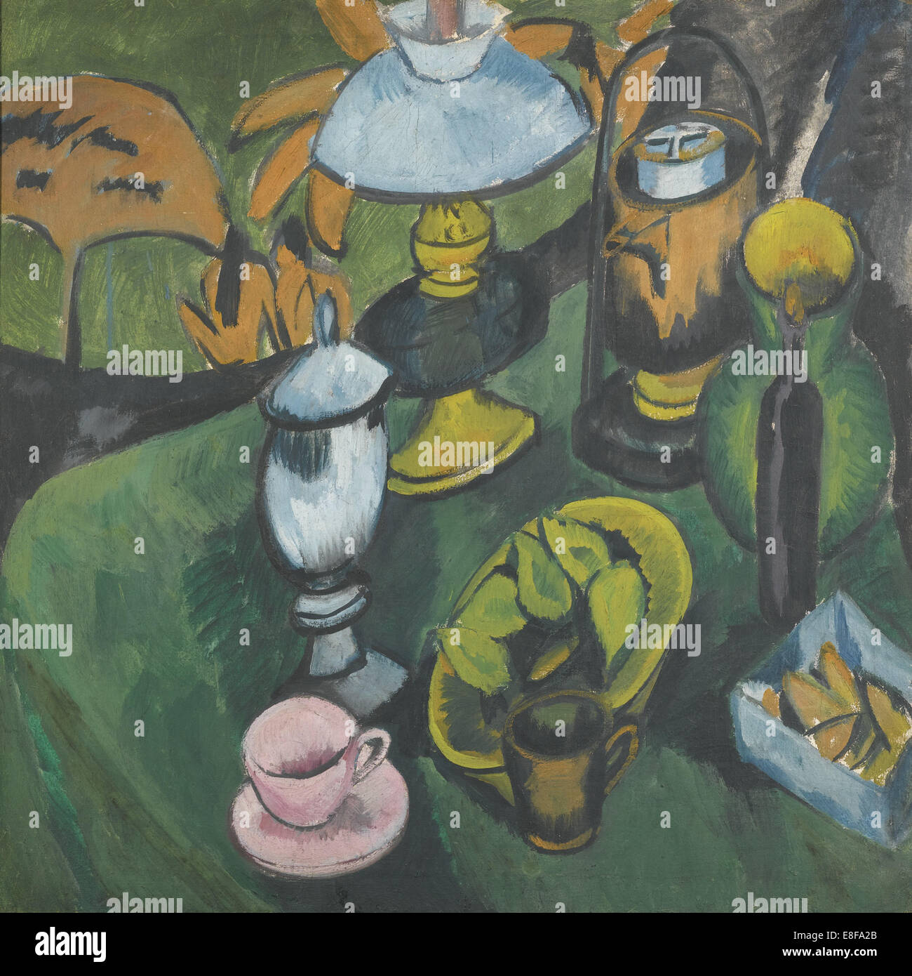 Ancora in vita con lampada. Artista: Kirchner, Ernst Ludwig (1880-1938) Immagini Stock