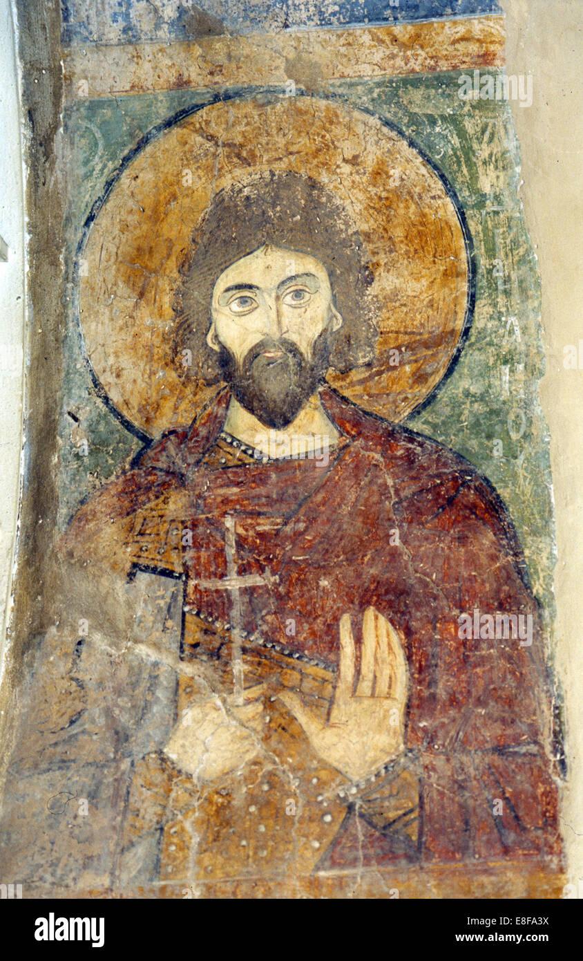 San Adrian. Artista: antichi affreschi russo Immagini Stock