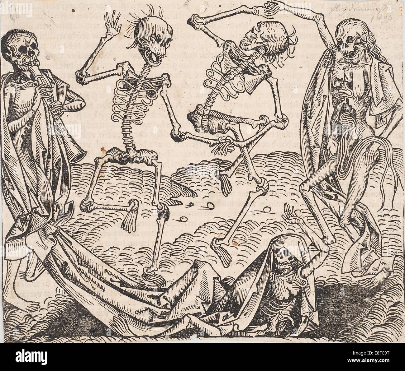Danza di morte (dall'Schedel la cronaca del mondo). Artista: Wolgemut, Michael (1434-1519) Immagini Stock